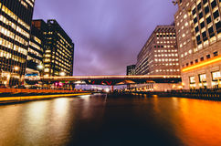 Movement. London city, warm lights at night royalty free stock photos
