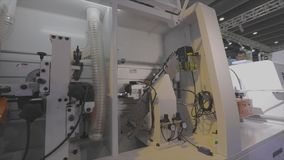 The movement of mechanical parts, the working mechanism of modern machine.  stock video
