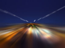 The speed of light in the night Stock Images