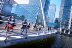 Movement of people in rush hour, London office business building Stock Photo