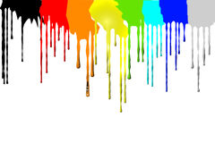 The movement of pigment. The flow of paint on a white background Royalty Free Stock Photos