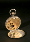 Movement of pocket watch. The movement of a pocket watch against a dark background Royalty Free Stock Photography