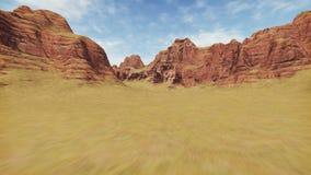 Movement through rocky canyon stock footage