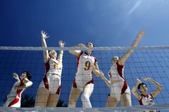 Movement sculpture. A Chinese female volleyball movement sculpture Royalty Free Stock Photos