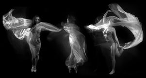 Movement With Sheer Fabrics and Long Exposure Royalty Free Stock Image