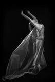 Movement With Sheer Fabrics and Long Exposure Stock Photos