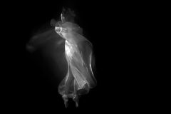 Movement With Sheer Fabrics and Long Exposure Royalty Free Stock Images