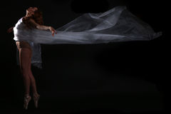 Movement With Sheer Fabrics and Long Exposure Stock Images