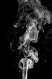 Movement of smoke,Abstract white smoke on black background.  Stock Photography
