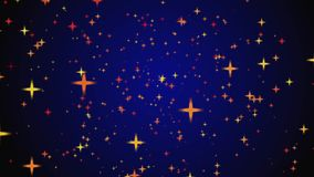 Movement of stars on a black and blue background stock footage