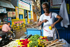 Colorful busy streets of India, Madurai Royalty Free Stock Images