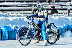 The movement to the starting line. Russia. The Republic Of Bashkortostan. The Ufa. Racing on ice. The Championship Of Russia. A final . February 1, 2014 Stock Images