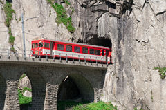 Movement of the train tunnel on Teufelsbrucke.Ande Stock Image