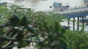 Movement of transport on the bridge stock footage