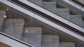 Movement up and down the escalator. 4k Video 3840x2160 stock video
