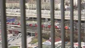 Movement of urban life and infrastructure of a large metropolis.  stock footage