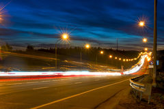 Movement of vehicles on the highway Royalty Free Stock Photo