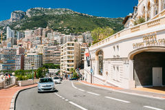 Movement of vehicles on street city in Monaco, Monte Carlo Royalty Free Stock Photography
