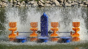 Movement of water turbines. stock video