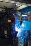 The movement of the welding Stock Photography