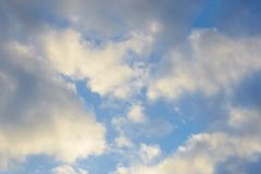 Movement of white clouds against a blue sky. Movement of white clouds against a blue sky Stock Photo