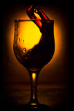 The movement of wine Royalty Free Stock Images