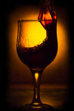 The movement of wine Stock Photography