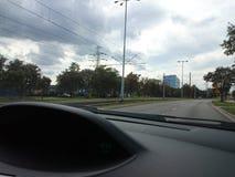 Movendo ao redor a cidade Fotografia de Stock