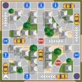 Movendo o táxi na cidade Foto de Stock