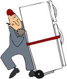 Movendo um refrigerador Imagem de Stock