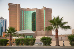 Movenpick hotel exterior in Dammam city, Saudi Arabia. DAMMAM, SAUDI ARABIA - MAY 15, 2014: Movenpick hotel exterior in Dammam city, Saudi Arabia Royalty Free Stock Image