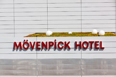 Movenpick Hotel logo / lettering - a hotel near Stuttgart trade fair Messe and airport Stock Photo
