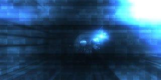 Movente rapidamente no túnel do metro ilustração do vetor