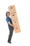 Mover with boxes Stock Photos