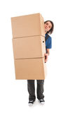 Mover with boxes Royalty Free Stock Image