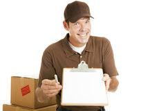 Mover Needs Your Signature Royalty Free Stock Images