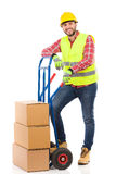 Mover in reflective clothes Stock Image