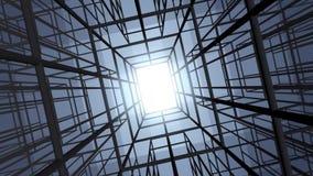Mover-se através da estrutura abstrata da construção ilustração do vetor