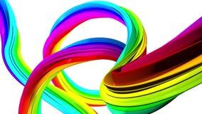 Mover-se colorido de linhas abstratas Fundo branco ilustração stock