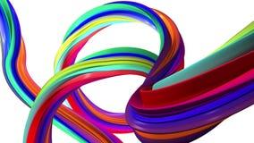 Mover-se colorido de linhas abstratas Fundo branco ilustração do vetor