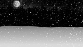 Mover-se com a animação da floresta da neve do inverno da noite ilustração royalty free