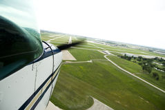 Mover-se da hélice de avião Imagens de Stock