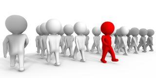 Mover-se de encontro às massas - uma imagem 3d ilustração do vetor
