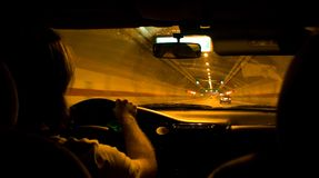 Mover-se do carro Foto de Stock Royalty Free