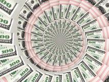 Mover-se dos blocos dos dólares do dinheiro Fotografia de Stock Royalty Free
