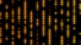 Mover-se dourado abstrato do teste padrão de estrelas ilustração do vetor