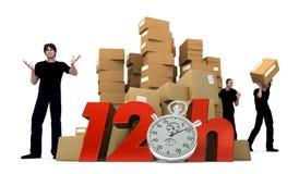 Mover-se em 12 horas Imagens de Stock Royalty Free