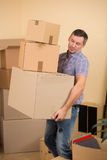 Mover-se em uma casa nova Fotografia de Stock Royalty Free