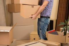 Mover-se em uma casa nova Fotos de Stock