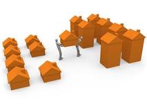 Mover-se Home ilustração do vetor